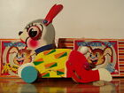 OLD VINTAGE WOODEN PULL TOY BUNNY RABBIT MADE IN JAPAN FISHER PRICE