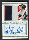 2014 NATIONAL TREASURES CARLTON FISK 3 COLOR PATCH AUTO # 1 5