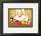 Three Chefs at Work Framed Art Print By Dan Dipaolo - 16x14