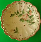 VINTAGE HAND PAINTED FLOWERS PLATTER, WALL HANGING, HEART OPENINGS MADE IN ITALY