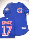 5210 Majestic Chicago Cubs MARK GRACE Authentic GAME Alternate BLUE Jersey 48