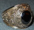 BSA National Executive Institute NEI Gold Ring Black Stone Size 10.5