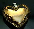 p205 1pc gold Lampwork glass Heart Pendant for Necklace CA