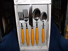 Fiesta Ware 5 PIECE FLATWARE  Retired Color  New Never Used- MARIGOLD