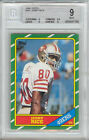 Jerry Rice 49ers HOF 1986 Topps #161 Rookie Card rC BGS 9 Mint
