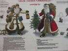 Olde Father Christmas Appliques Fabric BTHY 18x44 Santa Claus St Nick craft F