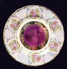 Decorative Colonial Fine Porcelain China Pink Gold Iridescent Floral Plate New