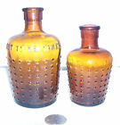 TWO DIFFERENT SIZES JUG POISON embossed, NOT TO BE TAKEN