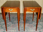 VINTAGE Henkel Harris Cherry Pembroke End, Side Tables, PAIR
