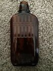 Vintage Prohibition Brown Glass Bottle Pint Federal Law Forbids Sale Or Re-Use