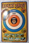 LUCKY SHOT JUNGLE HUNT GIANT TIN TOY TARGET 1950s