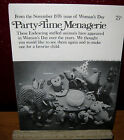 Vintage Mail Order Womans Day Party Time Menagerie 11 Stuffed Animal  Pattern 76