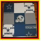 50 4 DALLAS COWBOYS Cotton Quilt Top Fabric Squares Kit