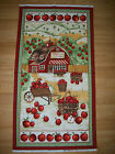 A TIMELESS TREASURES APPLE TREE FARM COTTON FABRIC PANEL BY ANDOVER FABRICS
