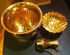 Vintage Old stock Stored new Brass pitcher Bowl Planter
