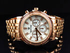 Unisex Genuine Diamond Icetime Marquis Watch MA-07 In Rose Gold Finish (.10 Ct)
