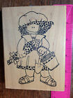 GIRL AT BEACH rubber stamp by Love You to Bits