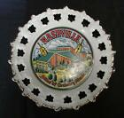 Vintage Nashville Country Music Home Grand Ole Opry Tennessee Ribbon Plate