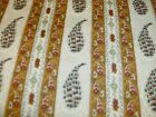 1 Yd. Red Rooster Quilt Fabric Florrie's Favorites Paisley Stripe Gold Green Tea