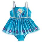 NEW NWT DISNEY STORE EXCLUSIVE FROZEN ELSA SWIM BATHING SUIT GLITTER 2015
