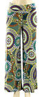 NEW for Women by Jon & Anna Lime Circle Print Slinky Palazzo Pants Size Large