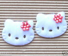 US SELLER 45pc x 1 5 8 Padded Appliques w Flower Bow for Hello Kitty ST519R