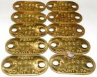 10 SMALL 1967 OVAL PERRY COUNTY PA PENNSYLVANIA BRASS WORK TAGS OR PLATES