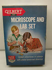 VINTAGE  GILBERT MICROSCOPE AND LAB SET #13024 - PARTS LOT