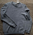 New  REFECTORY Lambs Wool Blend Crew Neck SWEATER Pullover  Gray Mens  M
