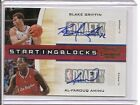 2010-11 Playoff Contenders Blake Griffin Al-Farouq Aminu Auto Card 49 Clippers