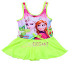 Disney Frozen Elsa & Anna Children Kids Girls Bathing Swimsuit Beach Swim Wear