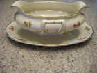 FRANCONIA CHINA  Gravy Boat w Underplate NORINA LN