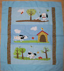 A DAISY KINGDOM 3-D APPLIQUE PLAYFUL PUPPY QUILTING FABRIC PANEL