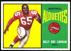 1964 TOPPS CFL CFL FOOTBALL 44 BILLY RAY LOCKLIN NM MONTREAL ALOUETTES N MEXICO