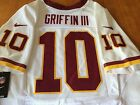 ROBERT GRIFFIN AUTHENTIC NIKE ELITE REDSKINS #10 GAME JERSEY WHITE 48 NEW