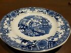 Antique Slamat Plate Oriental Theme Maastricht Holland Blue