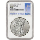 2015 W American Silver Eagle Burnished NGC MS69 First Day Issue 1st Label