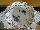 Antique China Floral Bowl w/Gold Trim - JPF (Germany)