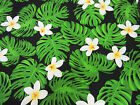 Tropical Breeze Quilting Treasures Fabric by  1/2 yd  Green Leaves