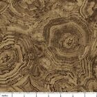 Woodland Stonehenge Tree Rings Northcott Quilt Fabric 17 remnant 4A