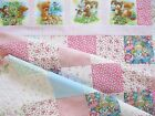 TEDDY BEAR'S PICNIC~FINISHED BABY GIRL~QUILT TOP~BATTING & BINDING INCLUDED~#185