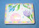 HORCHOW Porcelain Floral Playing Card Holder / Trinket Box & 2 Sealed Decks