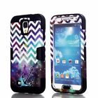 Star Hard & Soft Rubber Armor Impact Defender Case for Samsung Galaxy S4 Black