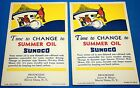 2 VINTAGE BROOKSIDE, BEAVER DAMS, NY ADVERTISEMENTS/POSTCARDS-SUNOCO 1935