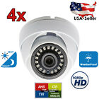 4 Pcs Sony CCD 700TV Night Vision Indoor Outdoor Dome CCTV Security Camera