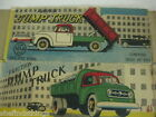 Vintage Linemar Friction Dump Truck Toy Litho Box ONLY Far Japan 1955 Pat. Pend.