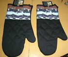 Jennifer Garant Oven Mitts Fat Bistro Waiters Wine Quilted Set 2 New