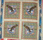 1 Yd Quilt Fabric Pillow Panel Southwestern Eagles Mountain Country Feathers
