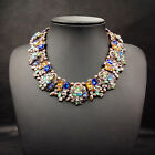 New Fashion Jewelry Pendant Crystal Choker Chunky Chain Statement Bib Necklace