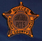 Nueces County, Texas Constable Police Shoulder Patch (invp4298)